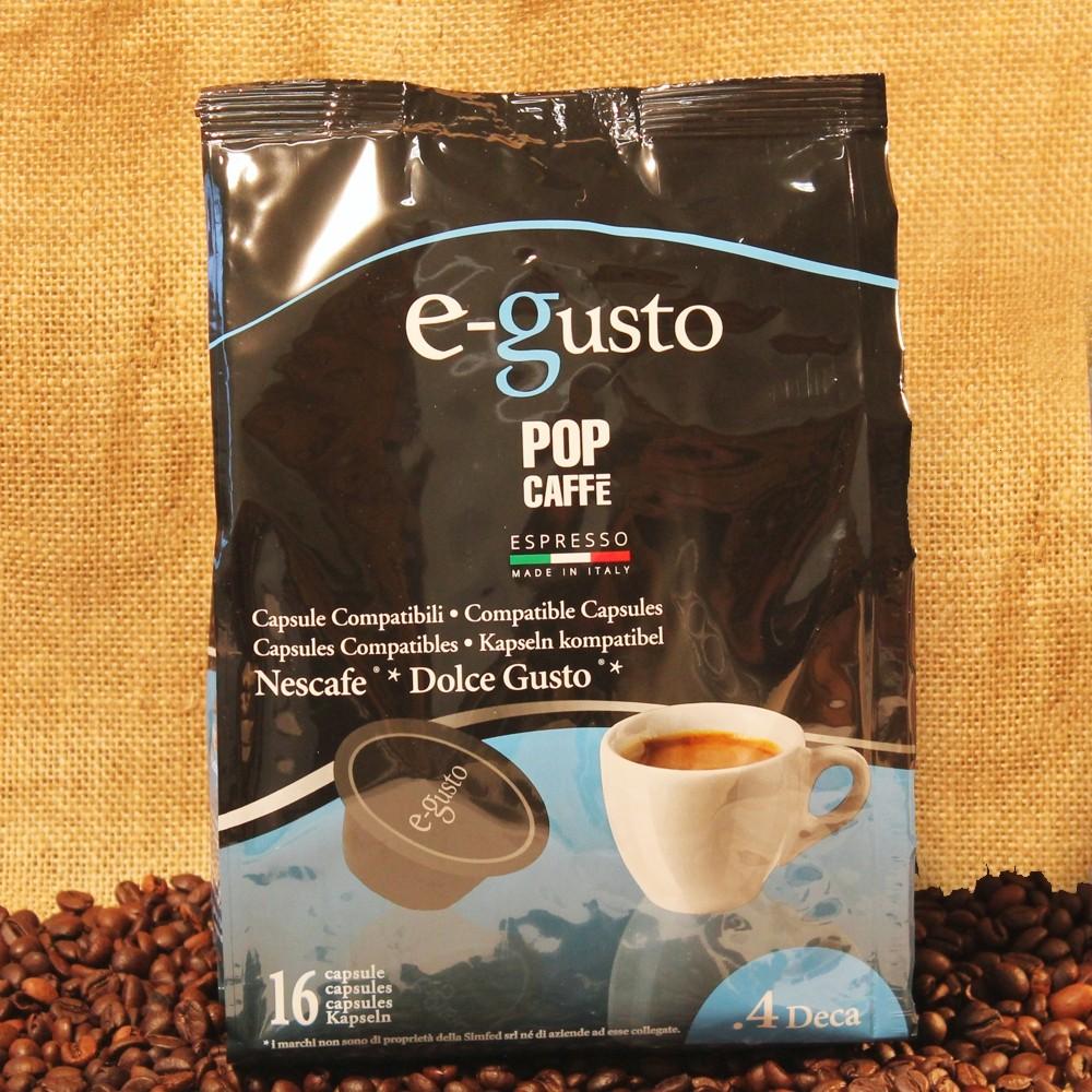 96 CAPSULE E-GUSTO DEK  POP CAFFÈ