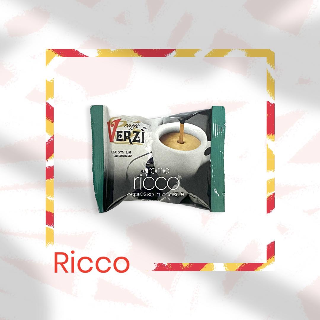 80 CAPSULE VERZI RICCO COMPATIBILI CAFFITALY